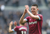 West Ham United's Declan Rice at the end of the game<br /> <br /> Photographer Rob Newell/CameraSport<br /> <br /> The Premier League - Tottenham Hotspur v West Ham United - Saturday 27th April 2019 - White Hart Lane - London<br /> <br /> World Copyright © 2019 CameraSport. All rights reserved. 43 Linden Ave. Countesthorpe. Leicester. England. LE8 5PG - Tel: +44 (0) 116 277 4147 - admin@camerasport.com - www.camerasport.com