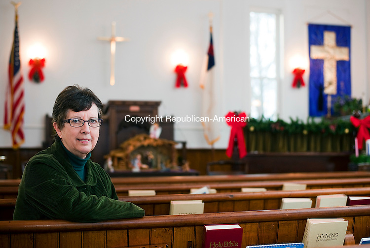 THOMASTON, CT--- -120415JS02--Pastor Patricia Pryor is the new pastor at Eagle Rock Congregational Church in Thomaston. <br /> Jim Shannon Republican-American