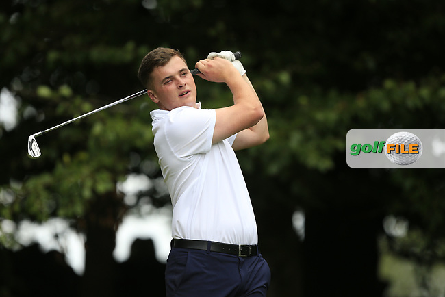James SUgrue (Munster) during final day foursomes at the Interprovincial Championship 2018, Athenry golf club, Galway, Ireland. 31/08/2018.<br /> Picture Fran Caffrey / Golffile.ie<br /> <br /> All photo usage must carry mandatory copyright credit (© Golffile   Fran Caffrey)