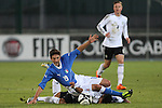 Erik Zenga and Danilo Cataldi in action during the Four Nations football match tournament Italy vs Germany at Rovereto, on November 14, 2013.  <br /> <br /> Pierre Teyssot