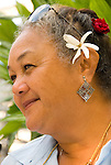 Mature hawaiian native woman, Kona Village, Hawaii