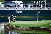 Zach Johnson (USA) lines up his putt on 17 during Saturday's round 3 of the PGA Championship at the Quail Hollow Club in Charlotte, North Carolina. 8/12/2017.<br /> Picture: Golffile | Ken Murray<br /> <br /> <br /> All photo usage must carry mandatory copyright credit (&copy; Golffile | Ken Murray)