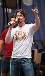 Christian Borle performing at United presents 'Stars in the Alley' in  Shubert Alley on May 27, 2015 in New York City.