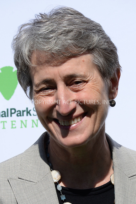 WWW.ACEPIXS.COM<br /> April 2, 2015 New York City<br /> <br /> Secretary of the Interior Sally Jewell attending National Park Service kick off of the #FindYourPark public service campaign in honor of the milestone centennial anniversary of the National Park Service in 2016 on April 2, 2015 in New York City. <br /> <br /> By Line: Kristin Callahan/ACE Pictures<br /> ACE Pictures, Inc.<br /> tel: 646 769 0430<br /> Email: info@acepixs.com<br /> www.acepixs.com