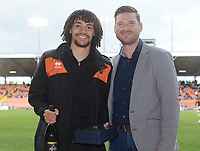 Blackpool's Nya Kirby is presented with his player of the month award for April<br /> <br /> Photographer Kevin Barnes/CameraSport<br /> <br /> The EFL Sky Bet League One - Blackpool v Gillingham - Saturday 4th May 2019 - Bloomfield Road - Blackpool<br /> <br /> World Copyright © 2019 CameraSport. All rights reserved. 43 Linden Ave. Countesthorpe. Leicester. England. LE8 5PG - Tel: +44 (0) 116 277 4147 - admin@camerasport.com - www.camerasport.com1e