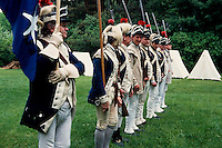 Revolutionary war re-enactors, Lexington, MA 7800-04