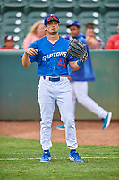 Joe Vranesh (45) of the Ogden Raptors before the game against the Grand Junction Rockies at Lindquist Field on June 17, 2019 in Ogden, Utah. The Rockies defeated the Raptors 9-0. (Stephen Smith/Four Seam Images)