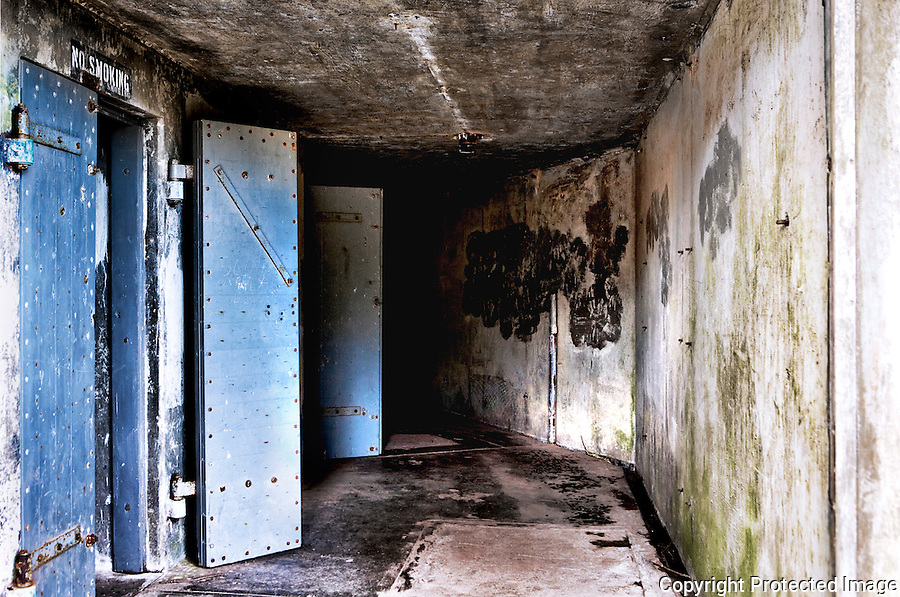 Abandoned artillary bunker, Fort Ebey State Park, Whidbey Island, WA.  The fourth, and only WWII vintage fort of a crossfire grouping that once protected Puget Sound from invasion.