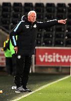 Pictured: Aston Villa coach Gordan Cowans Monday 25 April 2016<br /> Re: Play Off semi final, Swansea City AFC U21 v Aston Villa FC U21 at the Liberty Stadium, Swansea, UK