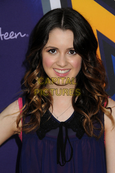 "Laura Marano.Radio Disney's N.B.T. ""Next BIG Thing"" Season 5 Finale held at The Americana at Brand, Glendale, California, USA, .8th December 2012..portrait headshot black collar  blue top sheer .CAP/ADM/BP.©Byron Purvis/AdMedia/Capital Pictures."