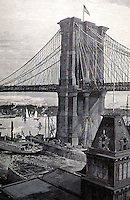 New York:  Brooklyn Bridge, general view. HARPER'S WEEKLY, May 26, 1883.