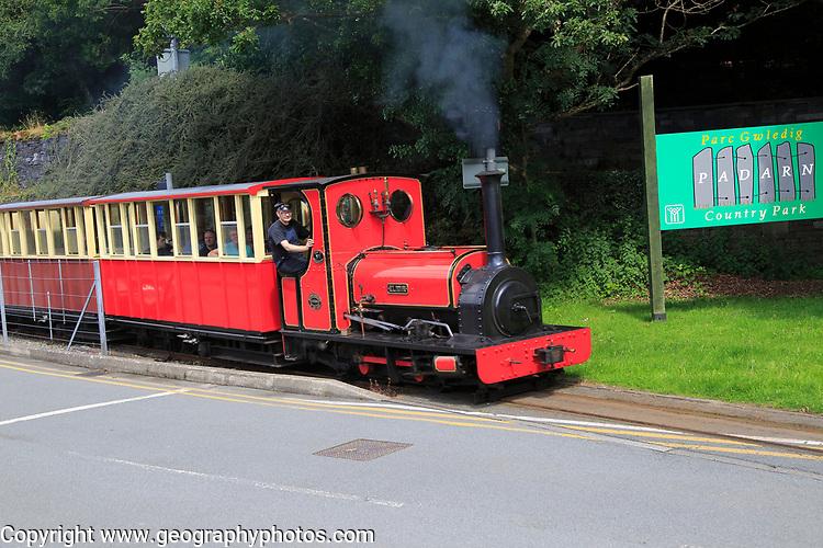 Steam locomotive engine train 'Elidor',  Llanberis lake railway, Rheilffordd Lllyn Padarn,  Gwynedd, Snowdonia, north Wales, UK
