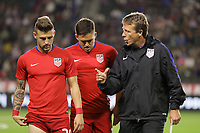 Carson, CA - Sunday January 28, 2018: Paul Arriola, John Hackworth during an international friendly between the men's national teams of the United States (USA) and Bosnia and Herzegovina (BIH) at the StubHub Center.