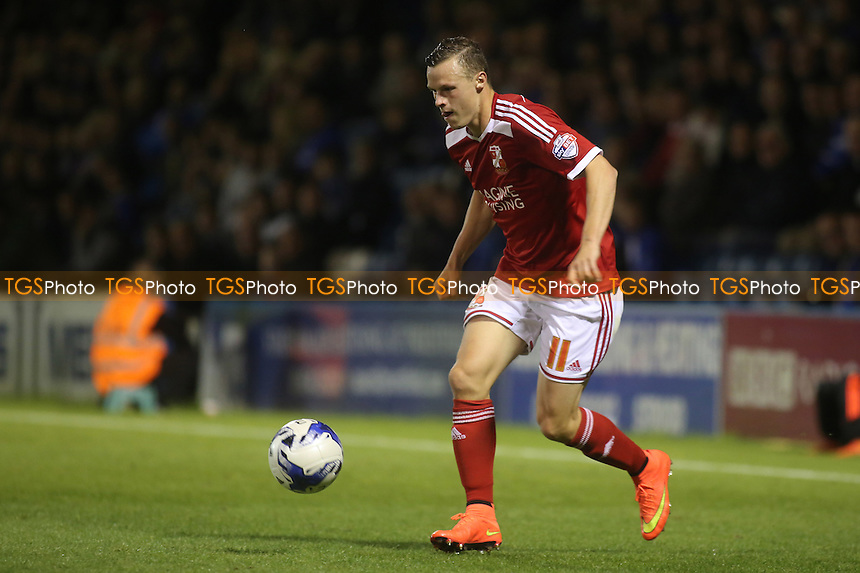 Brad Smith of Swindon currently on loan from Liverpool - Gillingham vs Swindon Town - Sky Bet League One Football at Priestfield Stadium, Gillingham, Kent - 19/08/14 - MANDATORY CREDIT: Paul Dennis/TGSPHOTO - Self billing applies where appropriate - contact@tgsphoto.co.uk - NO UNPAID USE