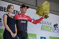Stage winner Jasper Stuyven (BEL/Trek Segafredo) on the podium. <br /> <br /> Binckbank Tour 2017 (UCI World Tour)<br /> Stage 7: Essen (BE) > Geraardsbergen (BE) 191km