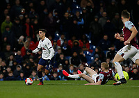 7th March 2020; Turf Moor, Burnley, Lanchashire, England; English Premier League Football, Burnley versus Tottenham Hotspur; Ben Mee of Burnley brings down Erik Lamela of Tottenham Hotspur in the box and Tottenham are awarded a penalty early in the 50th minute