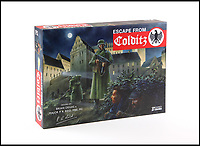 BNPS.co.uk (01202 558833)<br /> Pic: Warwick&Warwick/BNPS<br /> <br /> Escape From Colditz board game.<br /> <br /> A remarkable archive of photos which provide a glimpse inside the infamous Colditz Castle has come to light.<br /> <br /> The photos show the ingenuity of the Allied POWs who devised ever-bolder ways to escape from the German stronghold during World War Two.<br /> <br /> One image is of a dummy they would hold up to trick the German guards into believing the escaper was still with them during parade head counts. Others reveal the tunnels which were dug using tools smuggled into the 11th century castle in care parcels.<br /> <br /> The photos were taken by the official Colditz photographer Johannes Lange, who was employed by the German Army to take pictures of failed Allied escape attempts. They were then distributed to other POW camps to alert the guards to the methods the inmates were using in their bids for freedom.<br /> <br /> The archive is being sold by a private collector with auctioneer Warwick & Warwick, with an estimate of £1,750.