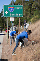 "Volunteers from Boy Scout Troop 355 participated in California Coastal Cleanup Day on 9/19/09 in Millbrae, CA. Participants cleaned up inland locations throughout the city as well as at Bayfront Park on the San Francisco Bay shoreline. The inland cleanup efforts were important because, according to the California Coastal Commission, ""past Coastal Cleanup Day data tell us that most (between 60-80 percent) of the debris on our beaches and shorelines comes from inland sources, traveling through storm drains or creeks out to the beaches and ocean. Rain or even something as simple as hosing down a sidewalk can wash cigarette butts, bits of styrofoam, pesticides, and oil into the storm drains and out to the ocean."" The California Coastal Cleanup Day (http://www.coastal.ca.gov/publiced/ccd/ccd.html) is sponsored by the California Coastal Commission and is a part of the International Coastal Cleanup organized by The Ocean Conservancy."