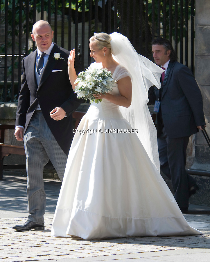 """ZARA PHILLIPS & MIKE TINDALL.wedding Canongate Kirk, Edinburgh_30/07/2011.Mandatory Credit Photo: ©DIASIMAGES..**ALL FEES PAYABLE TO: """"NEWSPIX INTERNATIONAL""""**..No UK Usage until 29/07/2011.IMMEDIATE CONFIRMATION OF USAGE REQUIRED:.DiasImages, 31a Chinnery Hill, Bishop's Stortford, ENGLAND CM23 3PS.Tel:+441279 324672  ; Fax: +441279656877.Mobile:  07775681153.e-mail: info@newspixinternational.co.uk"""