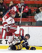Danny Biega (Harvard - 9), Bryce Van Brabrant (Quinnipiac - 12) - The Harvard University Crimson and Quinnipiac University Bobcats played to a 2-2 tie on Saturday, November 5, 2011, at Bright Hockey Center in Cambridge, Massachusetts.
