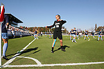 08 November 2009: North Carolina's Ashlyn Harris (18) warms up before the game. The University of North Carolina Tar Heels defeated the Florida State University Seminoles 3-0 at WakeMed Stadium in Cary, North Carolina in the Atlantic Coast Conference Women's Soccer Tournament Championship game.