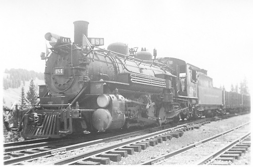 3/4 fireman side view of K-36 #484 at Cumbres hauling freight.<br /> D&amp;RGW  Cumbres, CO  Taken by Maxwell, John W.