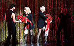 """Christie Brinkley kicks off her third run as """"Roxie Hart"""" in CHICAGO on Broadway with Amra-Faye Wright at the the Ambassador on April 18, 2019 in New York City."""