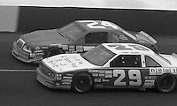 Tommy Riggins competes in  the Busch Series race at Darlington Raceway in Darlington, SC on March 19, 1988. (Photo by Brian Cleary/www.bcpix.com)
