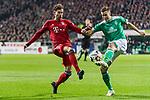 01.12.2018, Weserstadion, Bremen, GER, 1.FBL, Werder Bremen vs FC Bayern Muenchen<br /> <br /> DFL REGULATIONS PROHIBIT ANY USE OF PHOTOGRAPHS AS IMAGE SEQUENCES AND/OR QUASI-VIDEO.<br /> <br /> im Bild / picture shows<br /> Leon Goretzka (FC Bayern Muenchen #18) im Duell / im Zweikampf mit Niklas Moisander (Werder Bremen #18), <br /> <br /> Foto &copy; nordphoto / Ewert