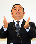 October 20, 2016, Tokyo, Japan - Nissan Motor chairman Carlos Ghosn announces MitsubishiMotors  joins Renault-Nissan alliance  at a press conference in Tokyo on Thursday, October 20, 2016. Ghosn will become chaiman of Mitsubishi Motors and Mitsubishi Motors president Osamu Masuko will stay current position.   (Photo by Yoshio Tsunoda/AFLO) LWX -ytd-