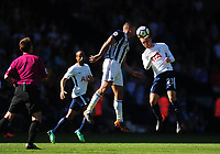 West Bromwich Albion's Jake Livermore battles with Tottenham Hotspur's Christian Eriksen<br /> <br /> Photographer Ashley Crowden/CameraSport<br /> <br /> The Premier League - West Bromwich Albion v Tottenham Hotspur - Saturday 5th May 2018 - The Hawthorns - West Bromwich<br /> <br /> World Copyright &copy; 2018 CameraSport. All rights reserved. 43 Linden Ave. Countesthorpe. Leicester. England. LE8 5PG - Tel: +44 (0) 116 277 4147 - admin@camerasport.com - www.camerasport.com