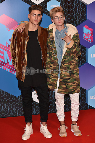Jack and Jack <br /> 2016 MTV EMAs in Ahoy Arena, Rotterdam, The Netherlands on November 06, 2016.<br /> CAP/PL<br /> &copy;Phil Loftus/Capital Pictures /MediaPunch ***NORTH AND SOUTH AMERICAS ONLY***