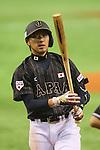 Ryosuke Kikuchi (JPN), <br /> NOVEMBER 14, 2014 - Baseball : <br /> 2014 All Star Series Game 2 <br /> between Japan and MLB All Stars <br /> at Tokyo Dome in Tokyo, Japan. <br /> (Photo by YUTAKA/AFLO SPORT)[1040]