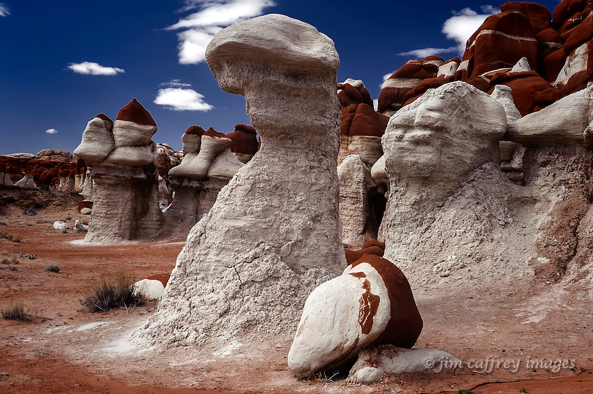 A hoodoo resembling a sock puppet in Blue Canyon on the Hopi Reservation in northeastern Arizona.