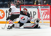 Nov 8, 2019 Game 18 - Team Canada vs Team USA during the 2019 World Under-17 Hockey Challenge at the Canalta Centre in Medicine Hat, Alberta, Canada. <br /> (Photo by Chad Goddard/Hockey Canada Images)