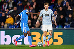 Dakonam Djene of Getafe FC and Fedor Smolov of RC Celta de Vigo during La Liga match between Getafe CF and RC Celta de Vigo at Coliseum Alfonso Perez in Getafe, Spain. March 07, 2020. (ALTERPHOTOS/A. Perez Meca)