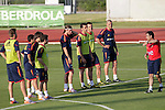 MADRID (24/05/09).- The Spanish Soccer national team has officially begun their hunt for the championship, arriving in the Madrid municipality of Las Rozas to begin preparing for South Africa World Cup.  ..PHOTO: Cesar Cebolla / ALFAQUI