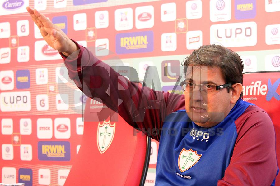 SAO PAULO, SP, 29.07.2013 - DORIVAL ROSA -  Apresentação Guto Ferreira como novo técnico da Portuguesa, em cerimônia realizada no Estádio do Canindé, em São Paulo (SP), nesta segunda-feira (29) (Foto: Dorival Rosa / Brazil Photo Press).