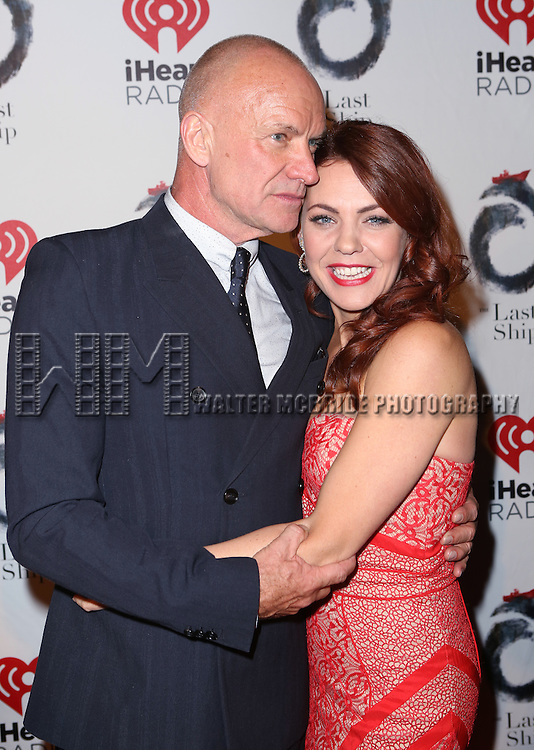 Sting and Rachel Tucker attends the Broadway Opening Night After Party for 'The Last Ship' at Pier 60 on October 26, 2014 in New York City.