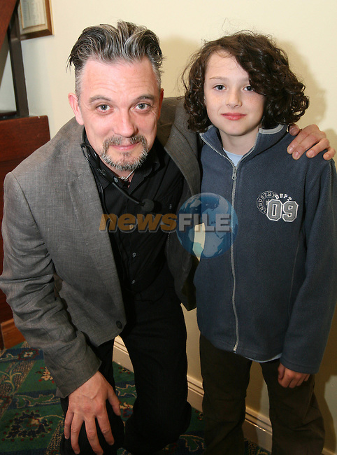 "Comedian Joe Rooney with Danny Rooney at ""Who Wants to be a Thousandaire"" in aid of Le Cheile School at the Boyne Valley Hotel...Photo NEWSFILE/Jenny Matthews.(Photo credit should read Jenny Matthews/NEWSFILE)....This Picture has been sent you under the condtions enclosed by:.Newsfile Ltd..The Studio,.Millmount Abbey,.Drogheda,.Co Meath..Ireland..Tel: +353(0)41-9871240.Fax: +353(0)41-9871260.GSM: +353(0)86-2500958.email: pictures@newsfile.ie.www.newsfile.ie.FTP: 193.120.102.198."