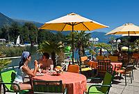 Oesterreich, Kaernten, Millstaetter See, Seeboden: Cafe, Seeterrasse | Austria, Carinthia, Lake Millstatt, Seeboden: cafe, seaside terrace