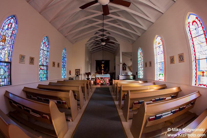 Inside of St. Augustine's Episcopal Church, Kapa'au, Big Island, Hawaii