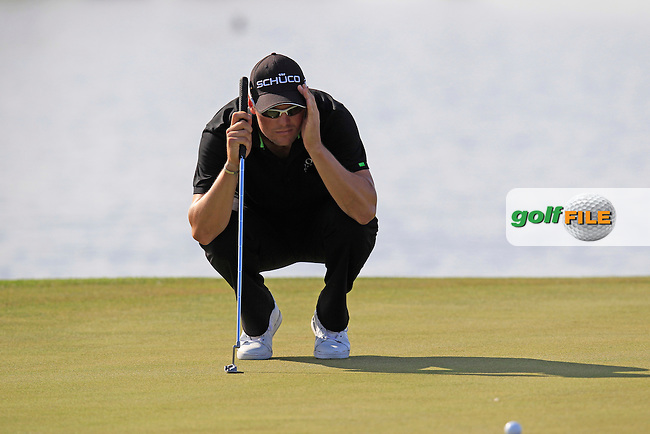 Martin Kaymer (GER) lines up his putt on the 17th green during Thursday's Round 1 of the Portugal Masters at the Oceanico Victoria Golf Course, Vilamoura, Portugal 10th October 2012 (Photo Eoin Clarke/www.golffile.ie)