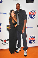 Lamar Odom and Khloe Kardashian at the 19th Annual Race To Erase MS - 'Glam Rock To Erase MS' event at the Hyatt Regency Century Plaza on May 18, 2012 in Century City, California. © mpi35/MediaPunch Inc.