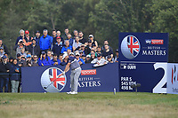 Zander Lombard (RSA) on the 2nd tee during Round 3 of the Sky Sports British Masters at Walton Heath Golf Club in Tadworth, Surrey, England on Saturday 13th Oct 2018.<br /> Picture:  Thos Caffrey | Golffile