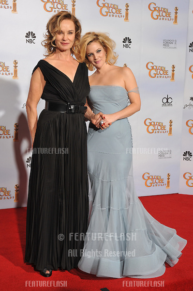 Jessica Lange (left) & Drew Barrymore at the 66th Annual Golden Globe Awards at the beverly Hilton Hotel..January 11, 2009  Beverly Hills CA.Picture: Paul Smith / Featureflash