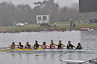 013 HamptonSchBC J15A.8x+..Marlow Regatta Committee Thames Valley Trial Head. 1900m at Dorney Lake/Eton College Rowing Centre, Dorney, Buckinghamshire. Sunday 29 January 2012. Run over three divisions.