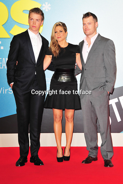 Will Poulter,Jennifer Aniston and Rawson Marshall attending the Germany premiere of the movie WE ARE THE MILLERS at CineStar Sony Center Potsdamer Platz in Berlin, 15.08.2013.<br /> Credit: Timm/face to face