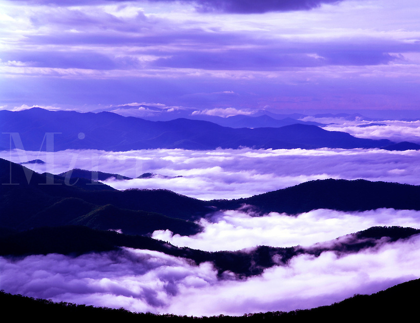 View from Clingmans Dome Great Smoky Mountains National Park North Carolina