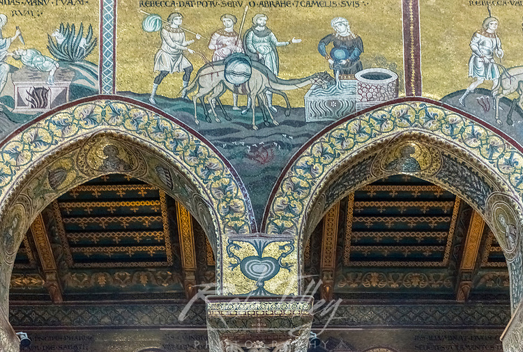 Europe, Italy, Sicily, Monteale, Monreale Cathedra, l Mosaics from the 12th Century in Byzantine Style